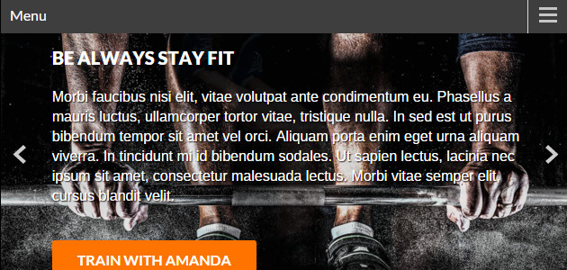 BeFit: Dark Flat Fitness WordPress Theme