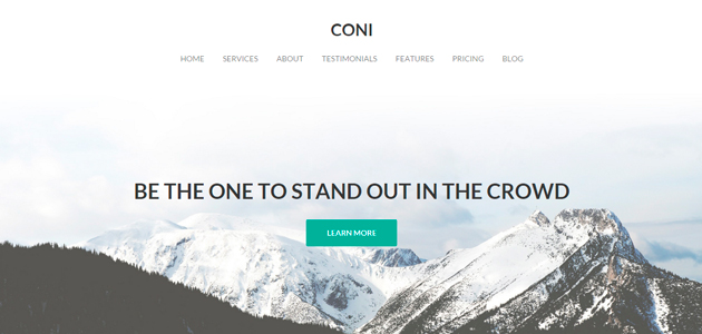 Coni: Clean & Minimal Agency WordPress Theme