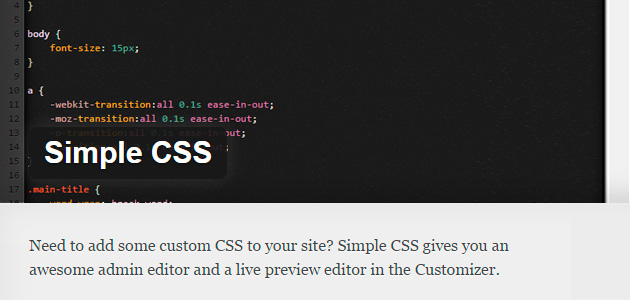 CSS Editor & Live Preview WordPress Plugin