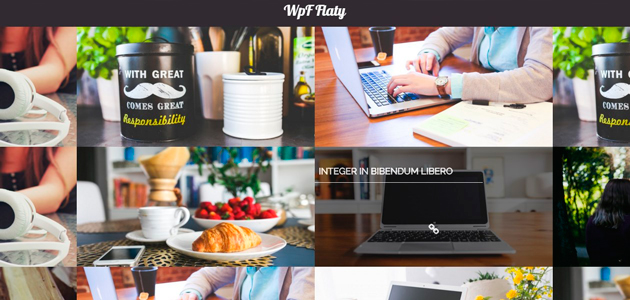 Flaty: Dark Portfolio Header WordPress Theme
