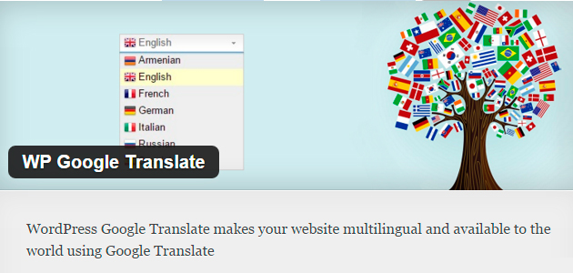 Google Translate WordPress Plugin