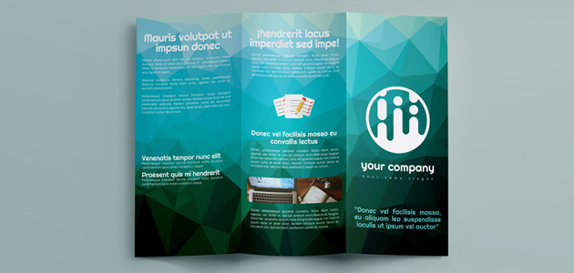 Low Poly Ai, INDD, & PSD Print Template