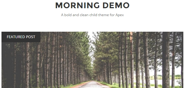 Morning: Clean Blogging WordPress Theme