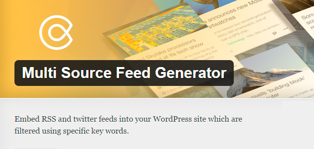 Multi Source Feed Generator WordPress Plugin