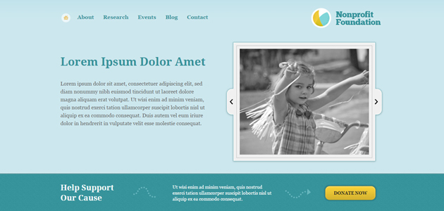 Non-Profit Foundation: Multipage Minimal WordPress Themes
