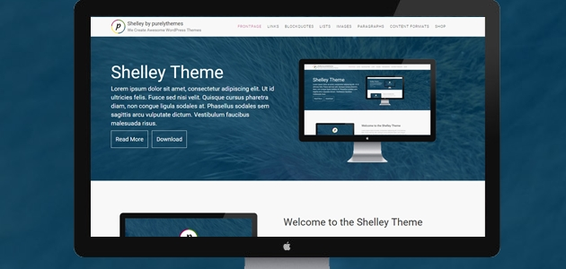 Shelley: Responsive WordPress Theme