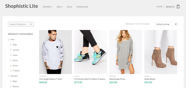 Shophistic: Lite & Clean ECommerce WordPress Theme