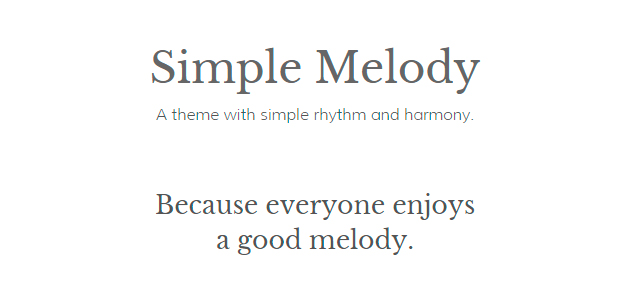 Simple Melody: Full-screen Clean Portfolio WordPress Theme