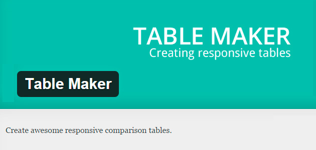 Table Maker: Comparison Tables WordPress Plugin