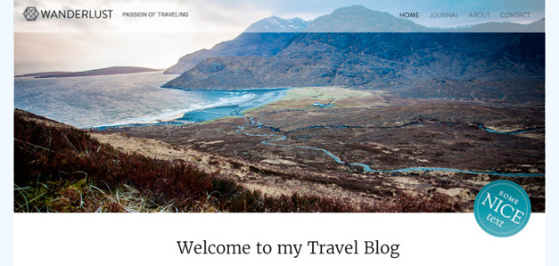 Wanderlust: Multipage Blogging WordPress Theme