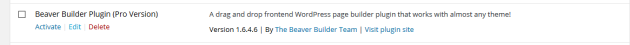 Activating Beaver Builder
