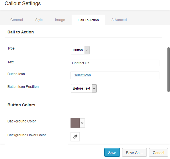 Callout Settings Beaver Builder