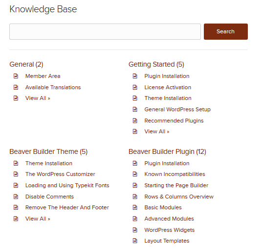Beaver Builder Knowledge Base