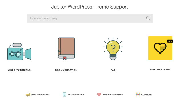 Jupiter Theme Support