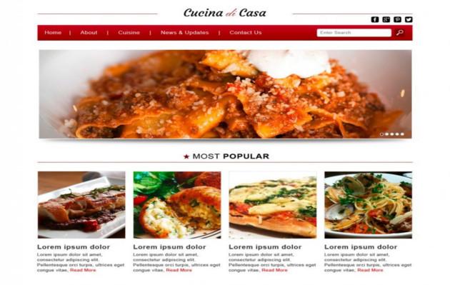 Cucina di Casa Responsive WordPress Template