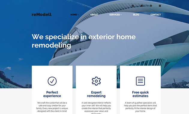 4. reModell wpml ready wordpress theme