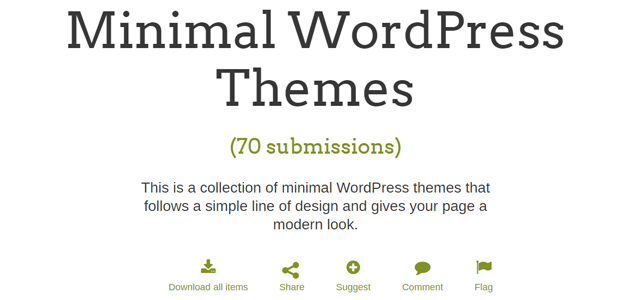 70 Minimal WordPress Themes Collection