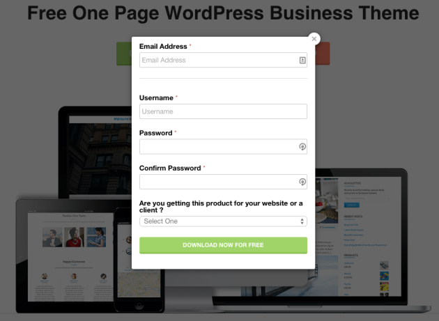 Parallax One Page Business Theme Download