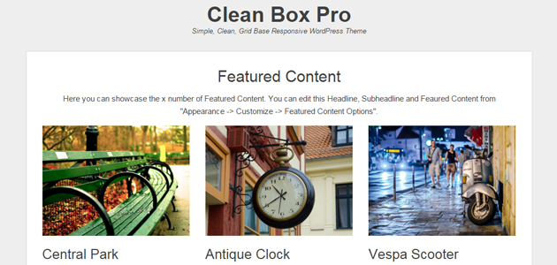 Clean Box: Responsive Minimal Blog WordPress Theme