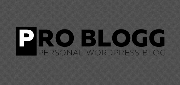 Pro Blogg: Clean & Minimal WordPress Theme