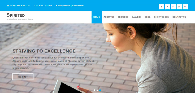 Spirited Lite: Modern Agency WordPress Theme