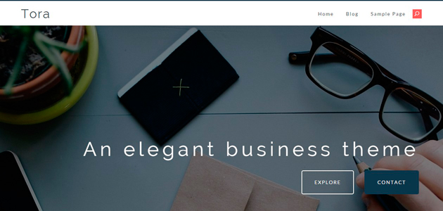 Tora: Responsive Neat Business WordPress Theme