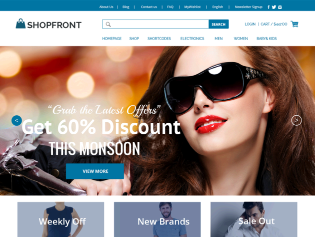 WordPress e-Commerce Theme