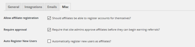 Autoregistering new affiliates on AffiliateWP