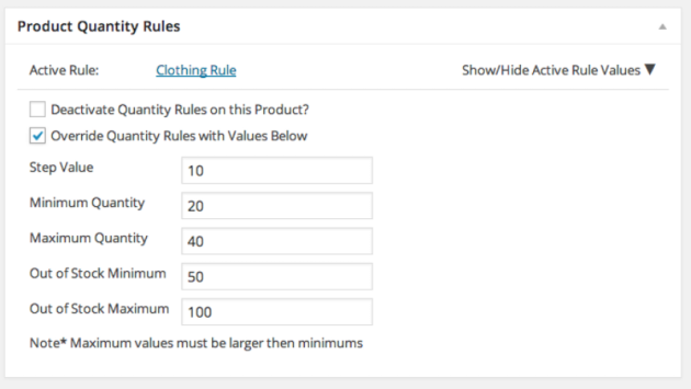 WooCommerce Advanced Product Quantities