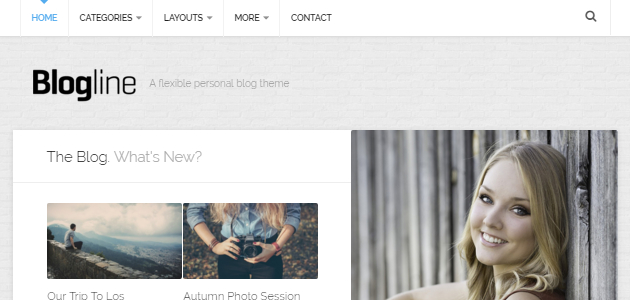 Blogline: Classic & Personal Blog WordPress Theme