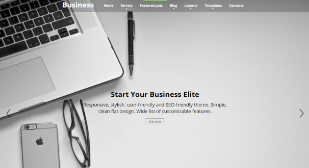 business elite one page wordpress theme
