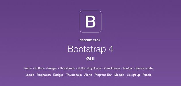 Complete Bootstrap 4 GUI Pack