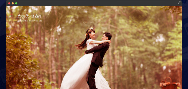LoveBond: Translation Ready Wedding WordPress Theme