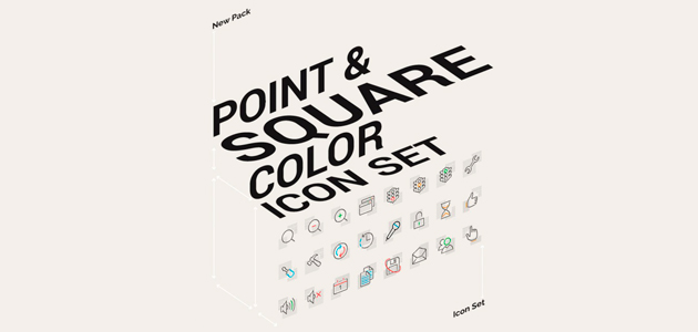 Point & Square Color Composed Icon Pack