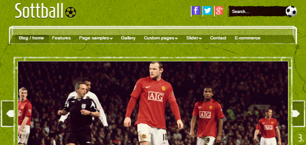 Sottball: Soccer Related WordPress Theme
