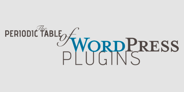 The Periodic Table of WordPress Plugin