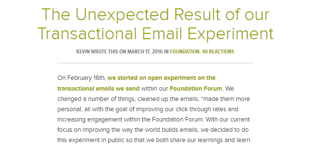 The Unexpected Result of Our Transactional Email Experiment (Article)