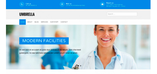 Umbrella: Responsive & Clean Medical WordPress Theme