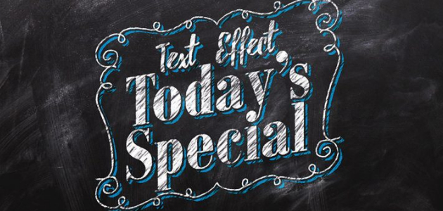 Chalkboard-like PSD Text Effect