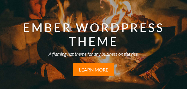Ember: Parallax Agency WordPress Theme