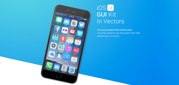 Free Vector IOS9 Illustrator GUI Kit