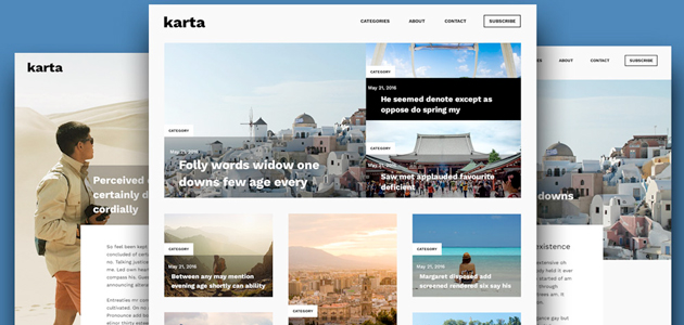 Karta: Clean & Modern Blog PSD Template