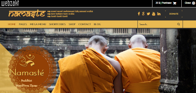 Namaste: Buddhist WordPress Theme