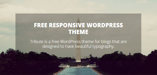 Tribute: Clean & Responsive WordPress Theme