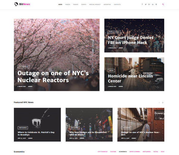BitNews WordPress Theme
