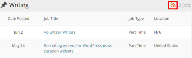WordPress Jobs Page