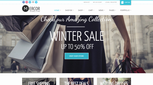 Mercor - Responsive WooCommerce Theme