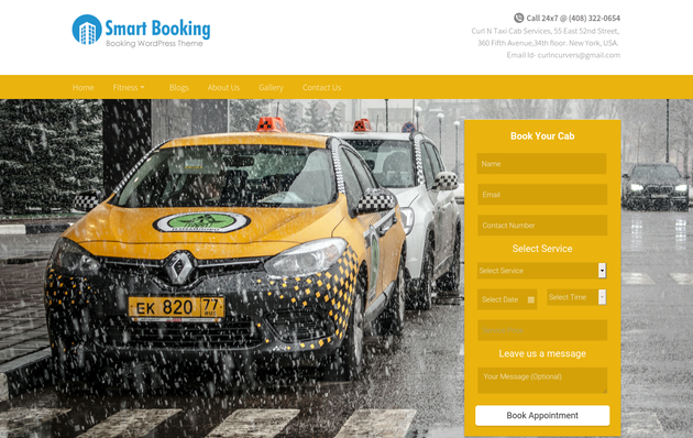 SmartBooking Landing Page Website Templates