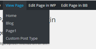Admin Page Spider WodPress Plugin