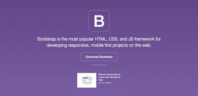 Bootstrap · The world's most popular mobile-first and responsive front-end framework. 2016-06-22 11-04-18